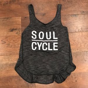 Lululemon soul cycle grey tank size 4